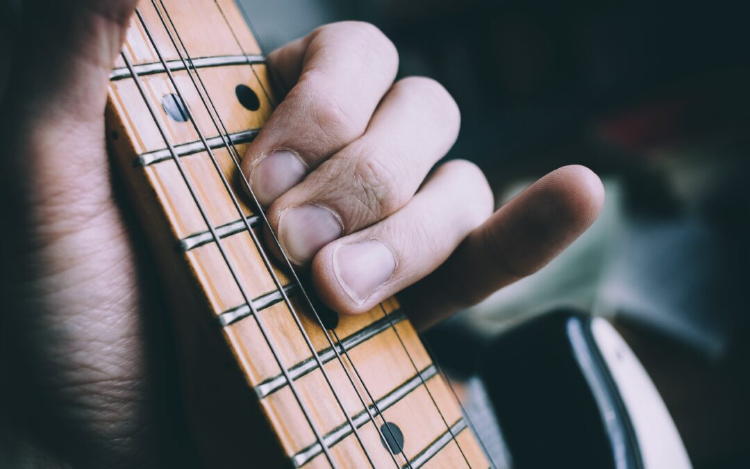 Solo spielender Gitarrist